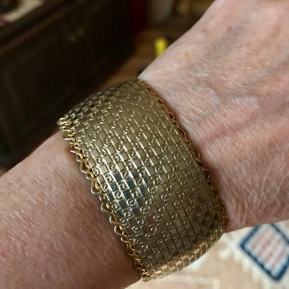 Vintage Volupte Silver Tone Over Copper Bracelet